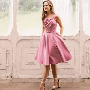Gal Meets Glam Zoe Bow Neckline Fit & Flare Dress